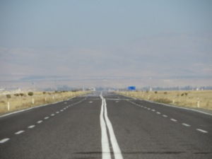 The road from Nigde to Konya