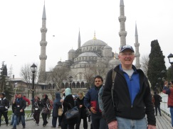 Dad in front of the Blue Mosque