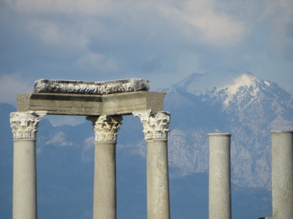 Columns and mountain, Perga